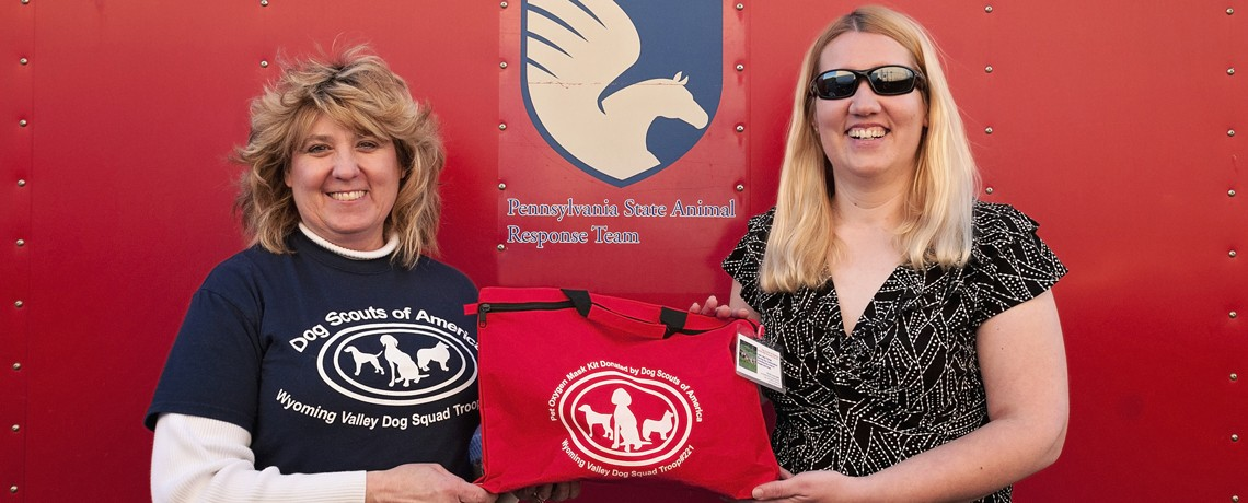 Dog Scouts of America Troop #221 Donated a Set of Pet Oxygen Masks